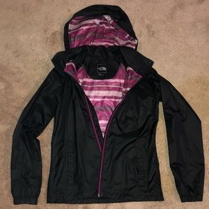 The North Face rain jacket with hood